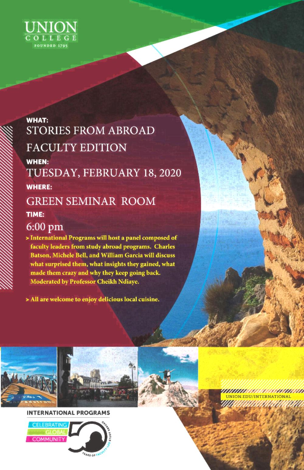 Faculty Panel on Study Abroad